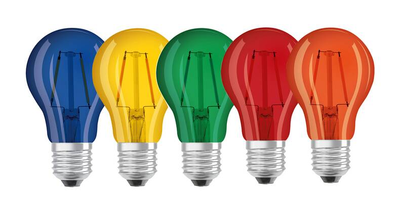 LED Lampe Superstar DécorRed, 2 Watt, E27, rot