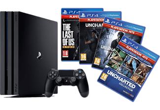 PlayStation 4 Pro 1TB - Naughty Dog Bundle - Spielekonsole - Jet Black