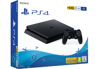 PlayStation 4 Slim 1TB - Spielekonsole - Jet Black