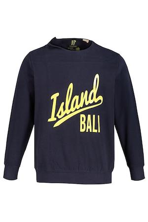 Ulla Popken Sweatshirt, Island Bali, Schulterzipper, Langarm - Große Größen