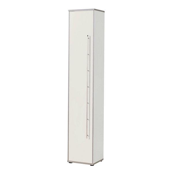 Wellemöbel CLEARLINE Büroschrank - 5 Fachböden  HxBxT 2167 x 400 x 362 mm - lichtgrau