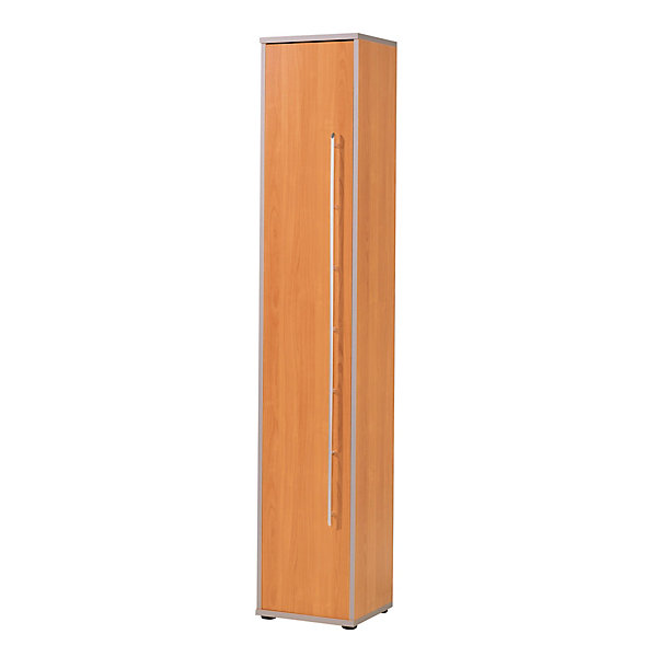 Wellemöbel CLEARLINE Büroschrank - 5 Fachböden  HxBxT 2167 x 400 x 362 mm - Buche-Dekor