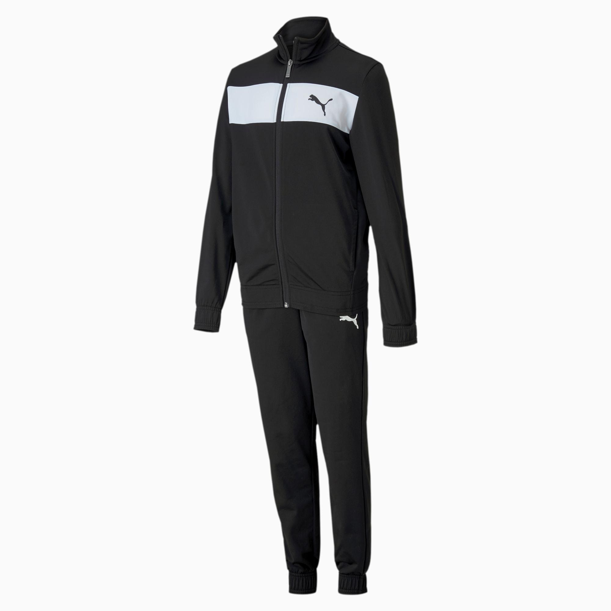 PUMA Polyester Jungen Trainingsanzug Für Kinder | Mit Aucun | Schwarz | Größe: 164