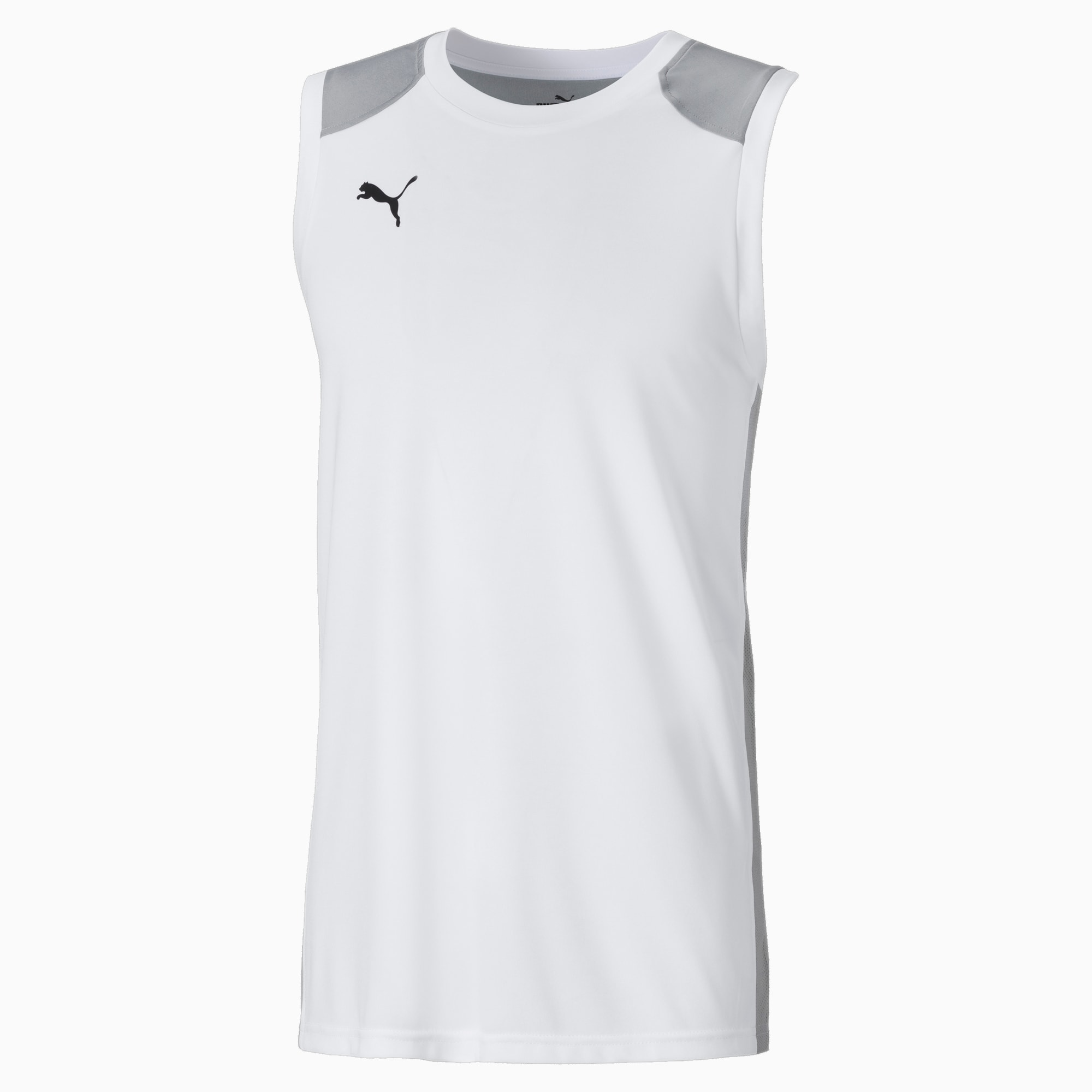 PUMA Herren Basketball Trikot   Mit Aucun   Weiß/Grau   Größe: XXL