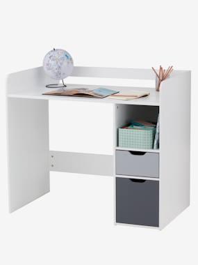 Schreibtisch für 6-10 jährige Passe-Passe weiss/grau
