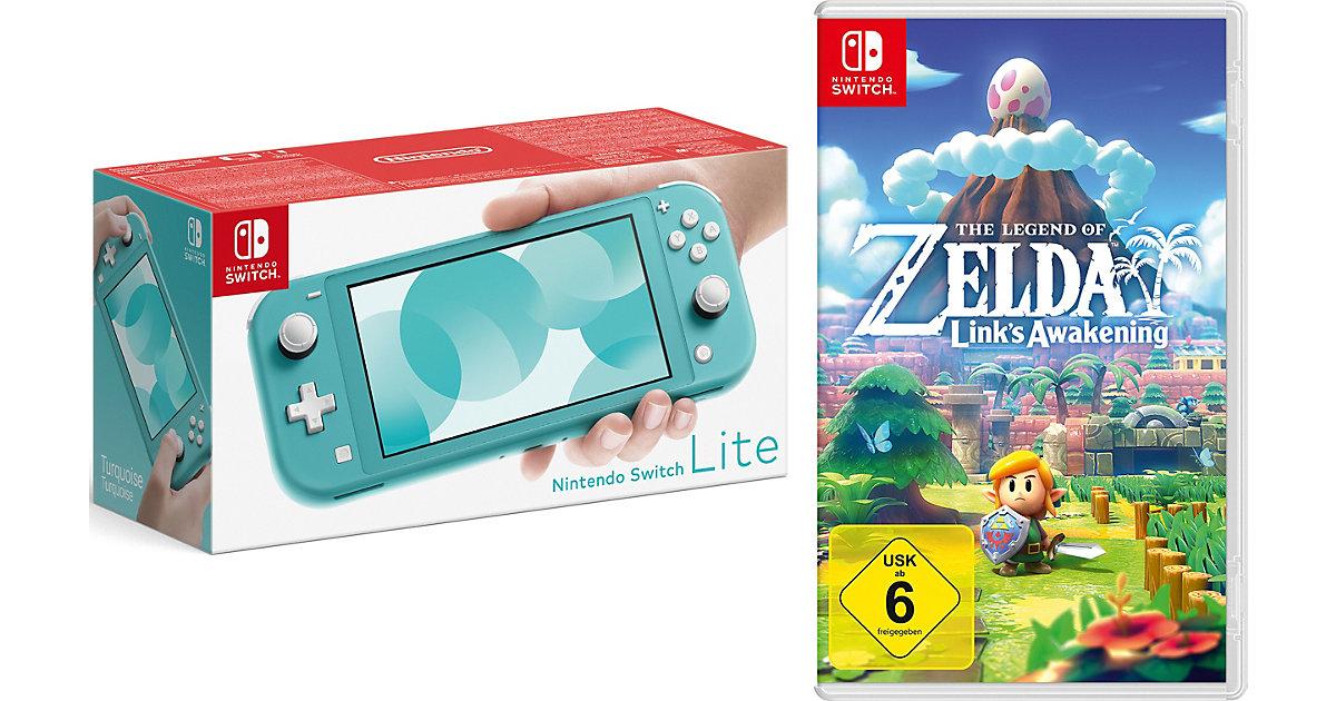 Nintendo Switch Lite Konsole, türkis inkl. Nintendo Switch The Legend of Zelda: Link's Awakening