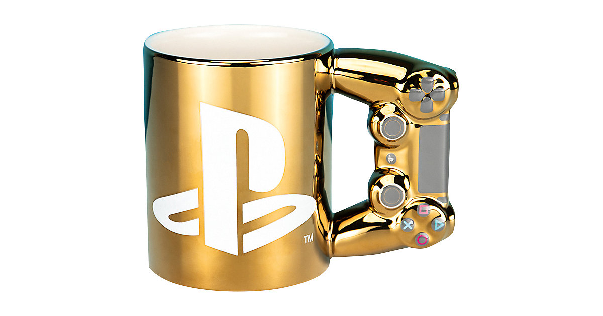 Playstation Becher Dual Shock4 Controller, gold