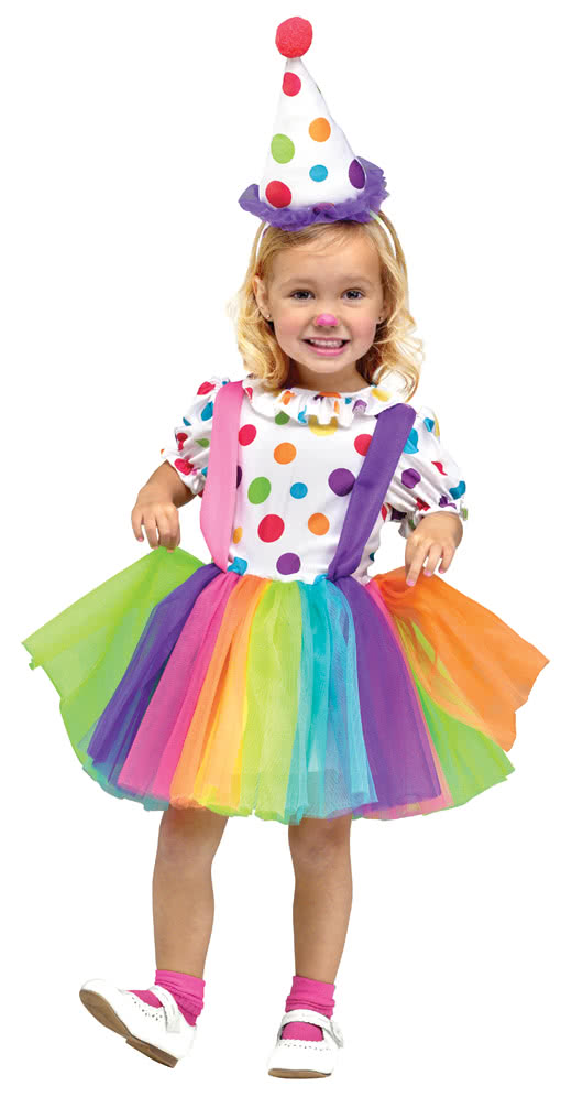 Clown Kostüm für Mädchen   Zirkusclown Karnevalskostüme für mädchen L
