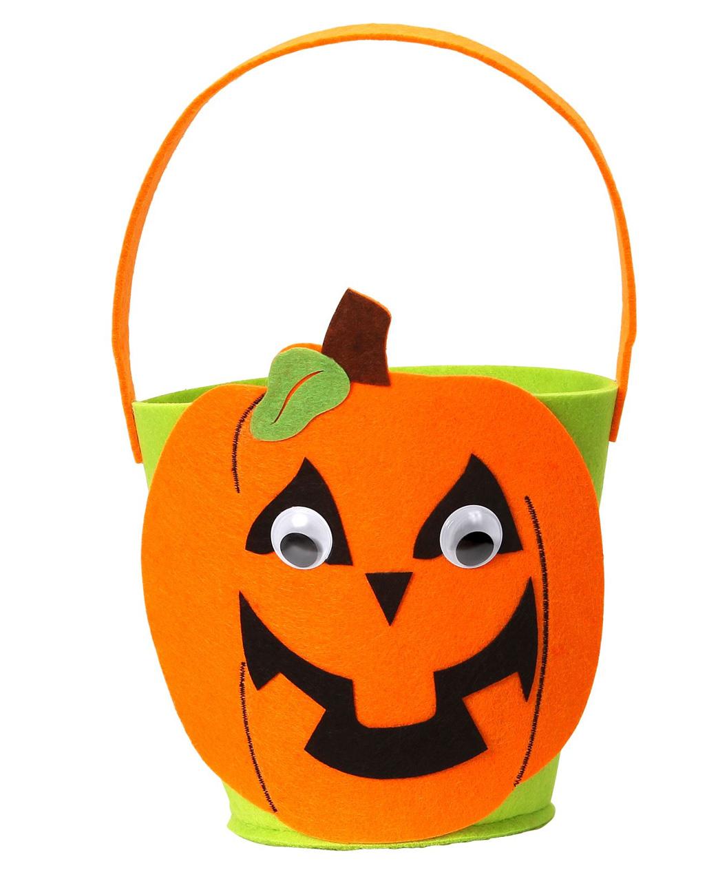 Halloween Körbchen Kürbis für Kinder
