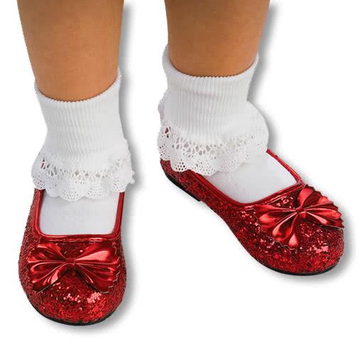 Kinderschuhe Dorothy -Zauberer von Oz-Glitzer Schuhe L-32