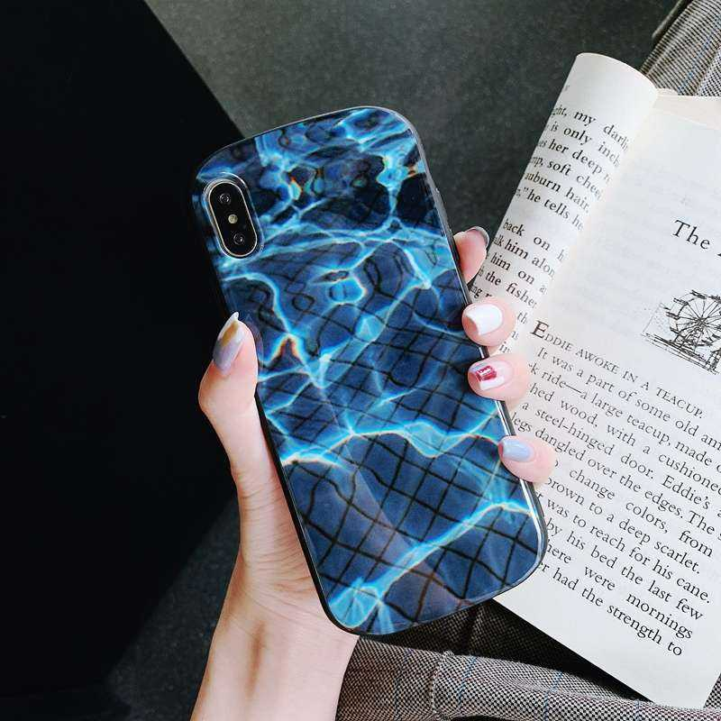 Yourmobile Apple iPhone XS / X Hülle - Soft TPU Cover - Pool